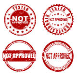 Red  stamp - not approved Royalty Free Stock Photo