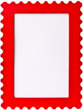 Red stamp photo image frame. On white background royalty free stock photography