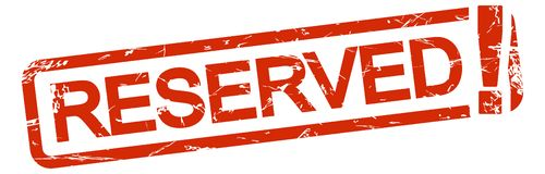 Free Red Stamp RESERVED Royalty Free Stock Photo - 156698835
