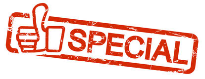 Red stamp SPECIAL Royalty Free Stock Images