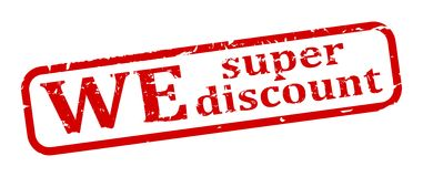 Red Stamp - we super discounts Royalty Free Stock Photo