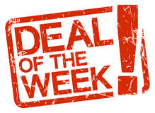 Red stamp with text deal of the week Stock Photos