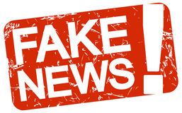 red stamp with text Fake News vector illustration