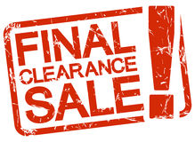 Red stamp with text final clearance sale ! Stock Photography
