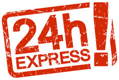 Red stamp with text 24h Express Stock Photo