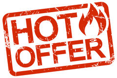 Red stamp with text hot offer Stock Photos
