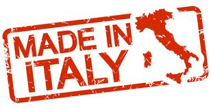 red stamp with text Made in Italy royalty free illustration