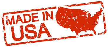 Red stamp with text Made in USA Royalty Free Stock Images