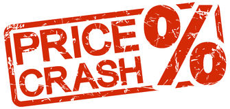 Red stamp with text price crash Royalty Free Stock Image