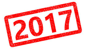 2017 red stamp text on white background. 2017 stamp sign Royalty Free Stock Photo