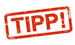 Red stamp - tipp ! Royalty Free Stock Image