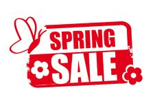 Free Red Stamp Vector Illustration Spring Sale Stock Images - 110055484