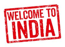 Welcome to India Royalty Free Stock Photography