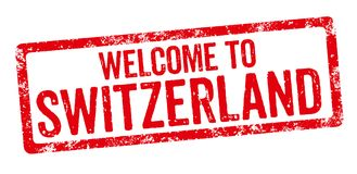 Welcome to Switzerland Royalty Free Stock Photography