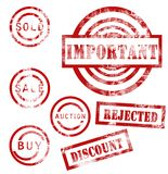 Red stamps collection Royalty Free Stock Photos