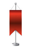 Red stand banner template illustration Royalty Free Stock Image