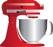 Red stand mixer Royalty Free Stock Photos