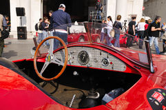 Red stanguellini Barchetta vintage car Royalty Free Stock Photo