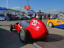 Red Stanguellini Formula Junior oldtimer racing car Stock Photos