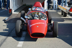 Red Stanguellini Formula Junior oldtimer racing car Royalty Free Stock Image