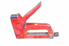 Red staple gun glyph royalty free stock images