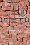 Red stapled bricks Royalty Free Stock Photos