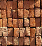 Red stapled bricks give a harmonic Royalty Free Stock Images