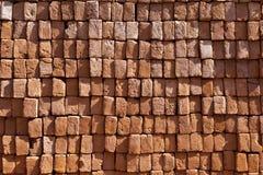 Red stapled bricks give a harmonic Stock Photos