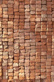 Red stapled bricks give a harmonic Stock Image