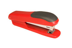 Red stapler Royalty Free Stock Photo