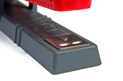 Red stapler Royalty Free Stock Images