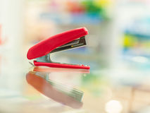 Red Stapler Stock Photography
