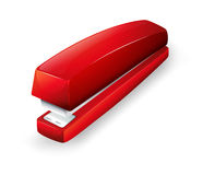 A red stapler. Illustration of a red stapler on a white background Stock Image
