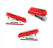 Red stapler isolate Royalty Free Stock Images