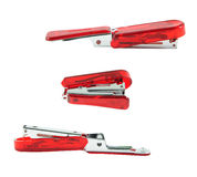 Red stapler isolate Stock Photos