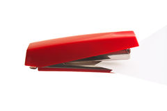 Red stapler Royalty Free Stock Image