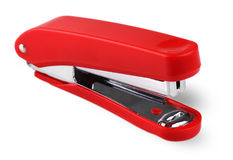 Red stapler isolated on a white background. Stock Photography