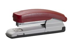 Red stapler stock photos