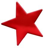 Red star. On a white background Royalty Free Stock Photo