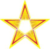 Red Star. After one of the stars formed a floating-colored t-shirt graphic design stock illustration
