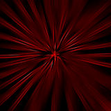Red star. Red star on a  black background Stock Image
