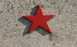 Red star. On a historical monument from Timisoara, Romania stock photos
