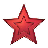 Red star. On white background Stock Photo