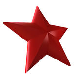 Red star. 3D rendering of a red star on a white background royalty free illustration