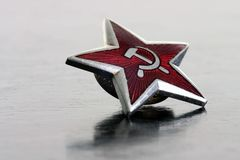 Red star. Wokers of the world, unite stock photo