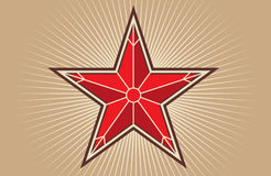 Red star. Vector illustration a Royalty Free Stock Photos