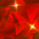 Red star abstract vector background Royalty Free Stock Image