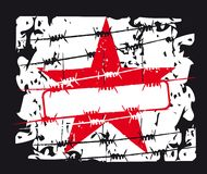 Red star background Royalty Free Stock Photo