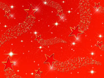 Red Star Background Stock Photo