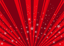 Red star background.  Royalty Free Stock Photography